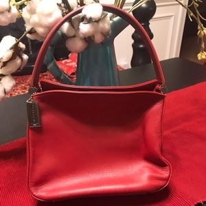 Vintage red Coach small purse